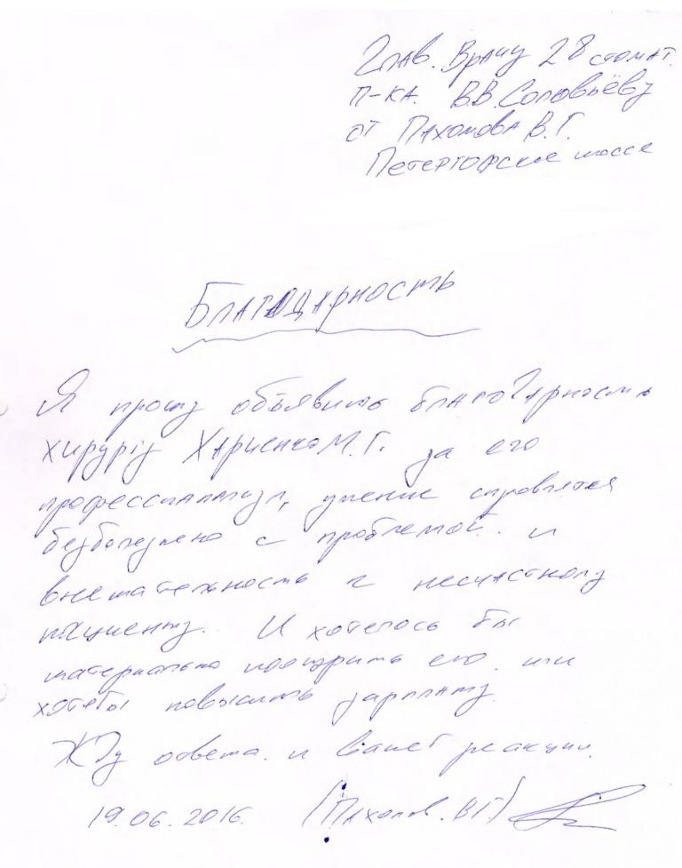 Пахомов В.Г., 19.06.2016